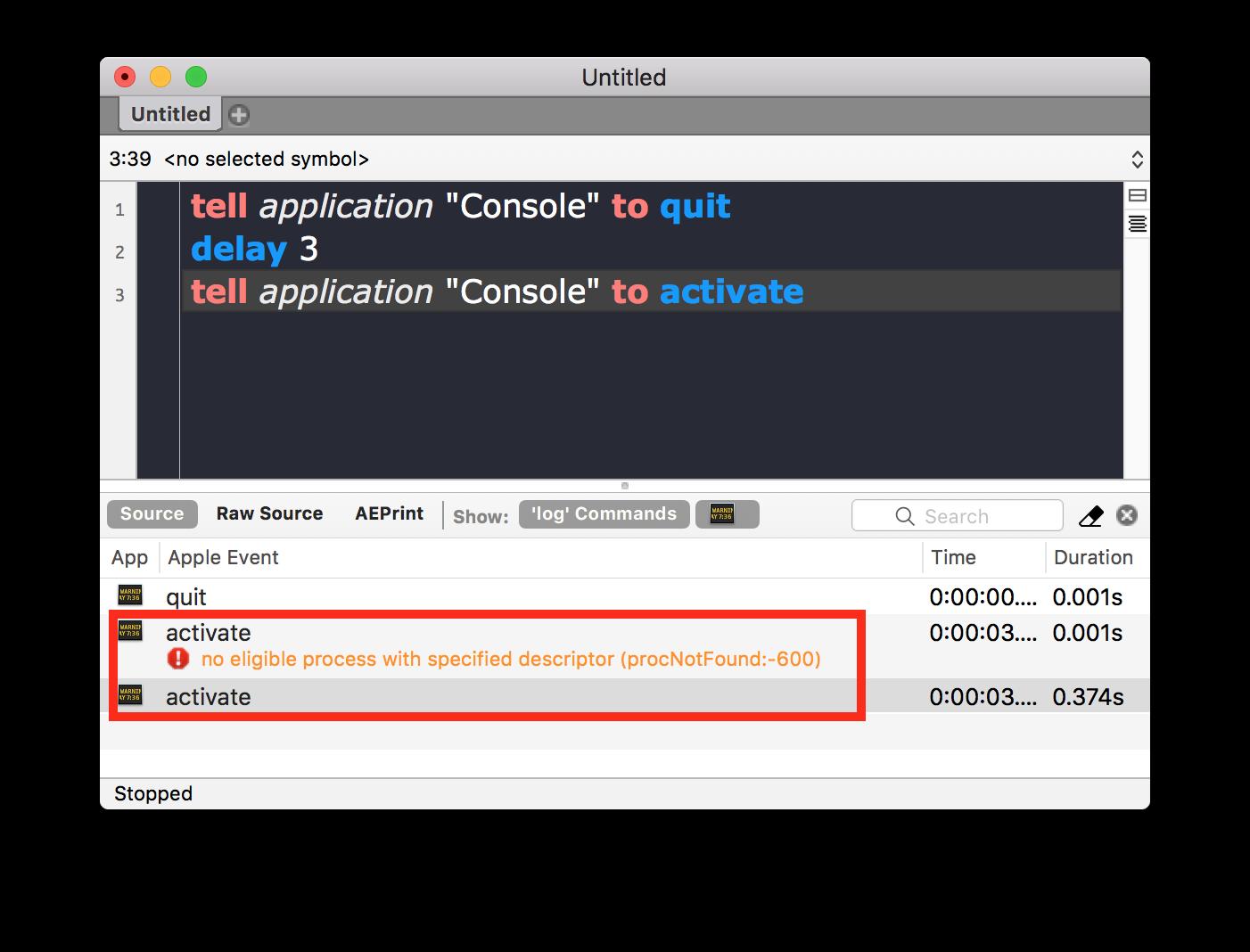 Quit & Restart same app, forgetting previous proc - AppleScript
